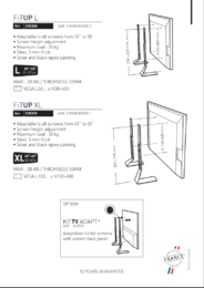 FIT-UP XL TV-Jalusta